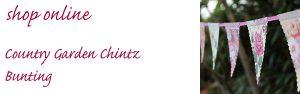 country garden chintz wedding bunting