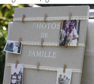 family photos at weddings photo display board