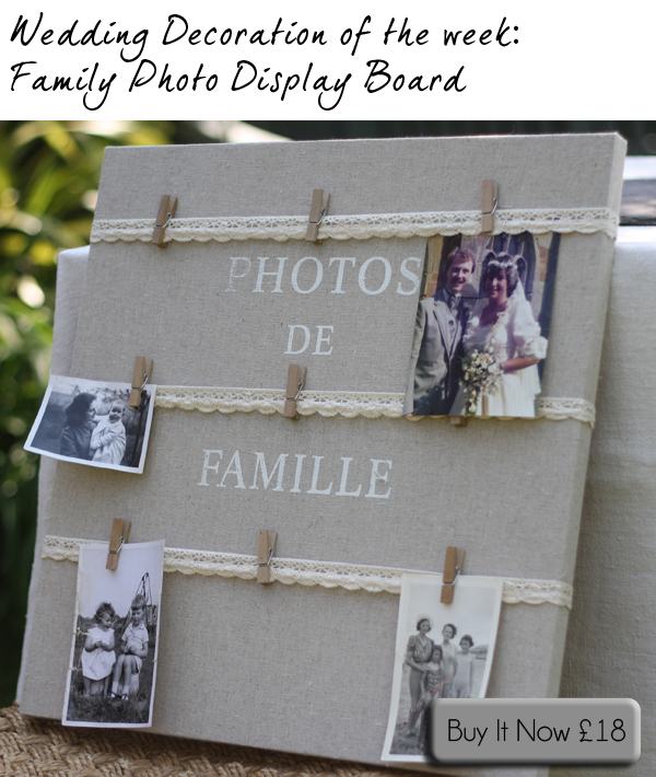 Display Family Photos At Wedding With Family Photo Display Board