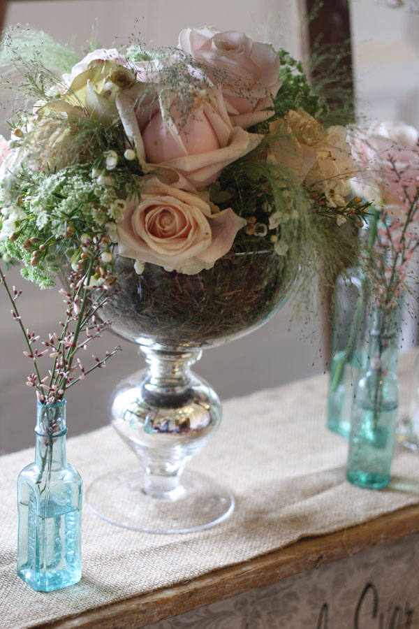 footed vase with roses Passion for Flowers