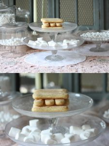 glass cake stands single tier