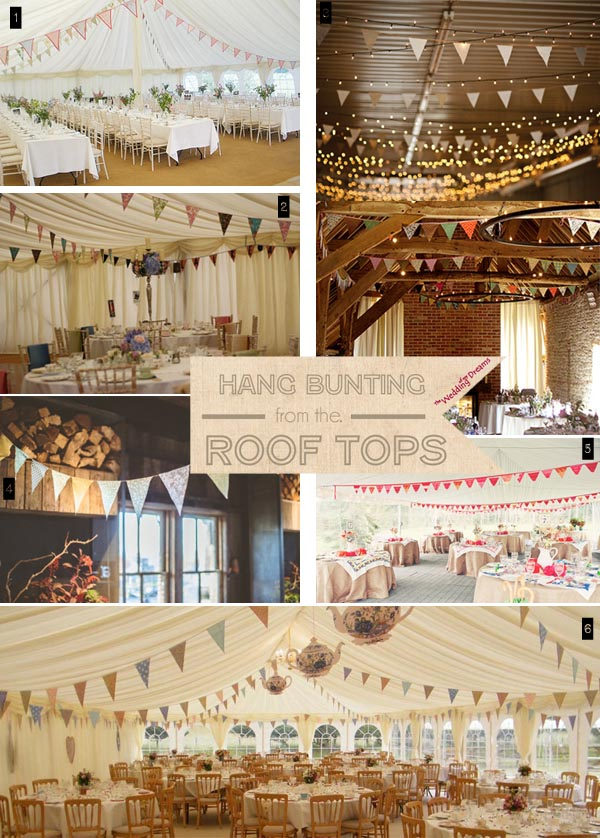 Ideas For Using Wedding Bunting - UK Wedding Styling & Decor Blog ...