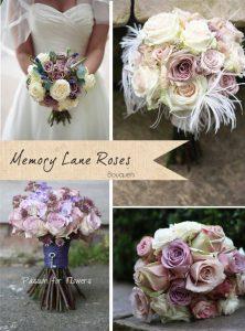 memory lane rose bouquets wedding flowers