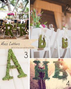 moss letters wedding