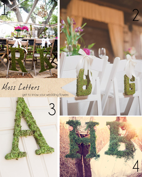 moss letters wedding