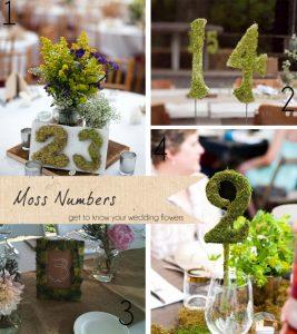 moss numbers wedding
