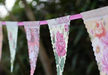 paper bunting country garden chintz wedding bunting