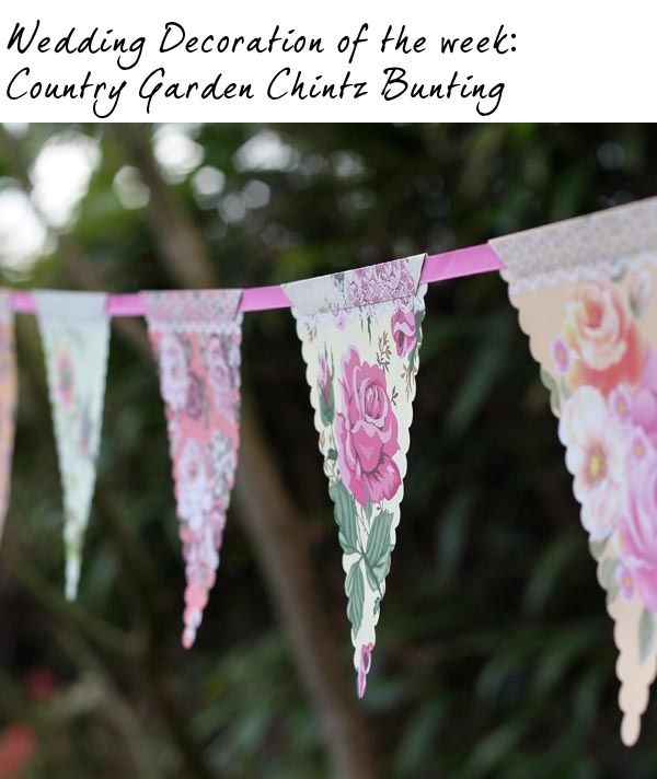 floral paper bunting country garden chintz wedding bunting