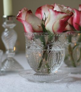 pressed glass vases