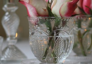 pressed glass vases