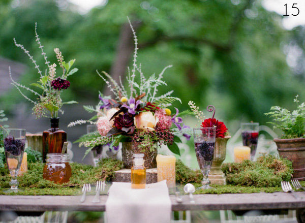 rustic centrepices wedding 2