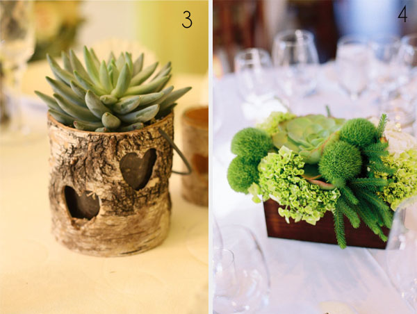 rustic centrepices wooden containers