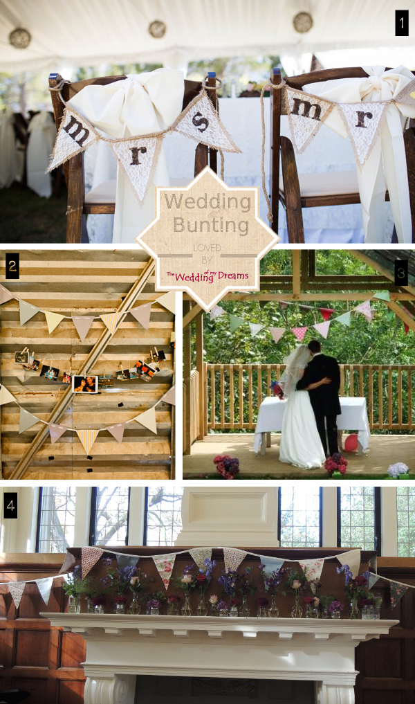 wedding bunting ideas
