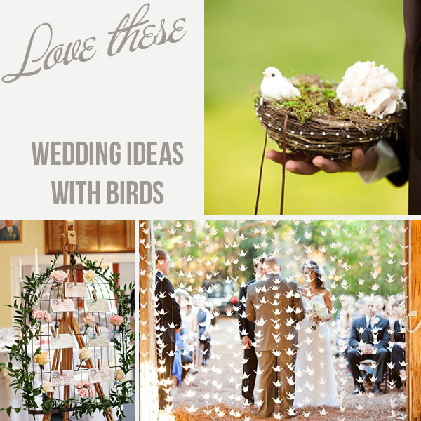 bird themed wedding ideas