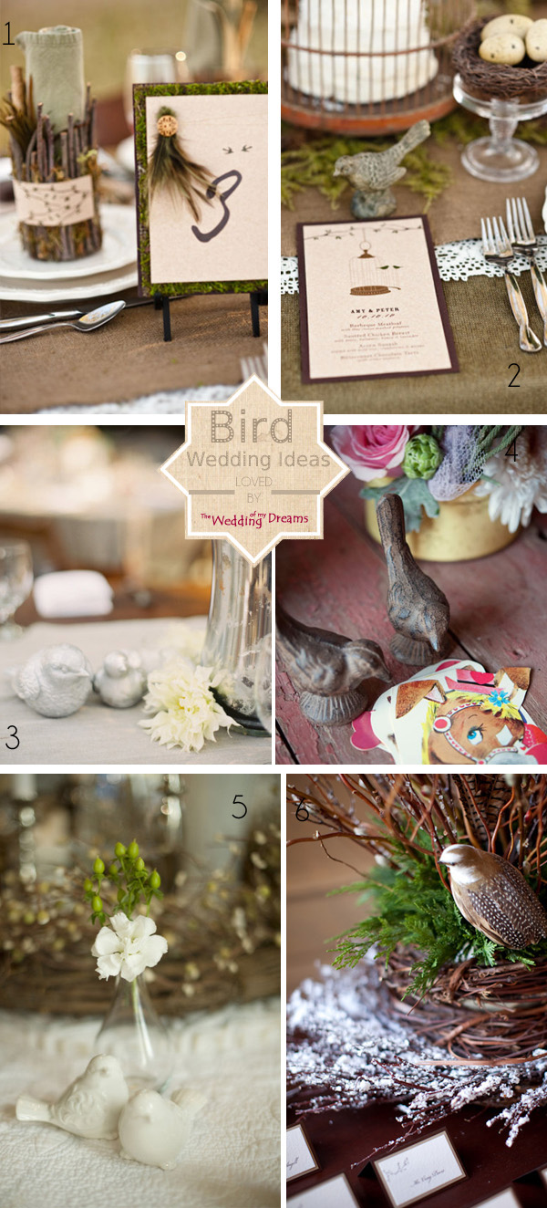 bird wedding theme ideas