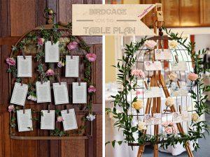 birdcage wedding table plan