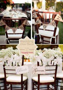 bride groom chair backs for weddings
