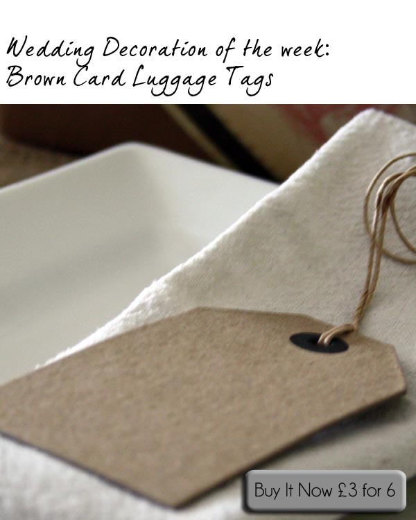 brown card luggage tags wedding