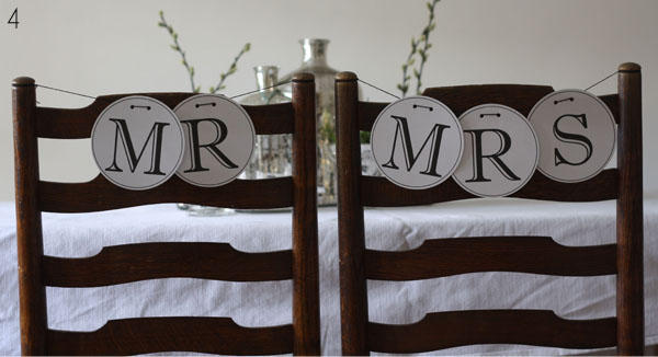 chair backs for weddings mr and mrs