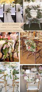 chair decorations wedding flowers