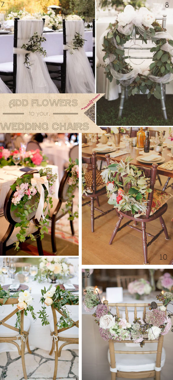 chair decorations wedding flowers