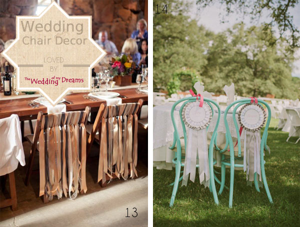 chair decorations wedding ribbons