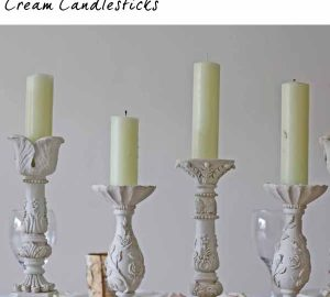 cream candlestick holders