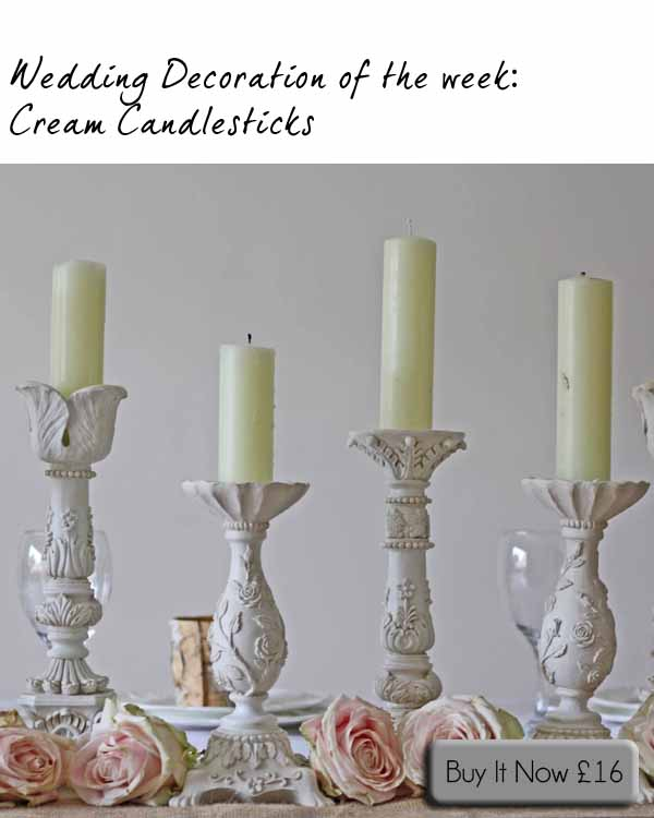 cream candlestick holders