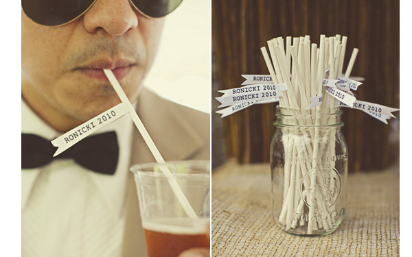 flags for paper straws wedding