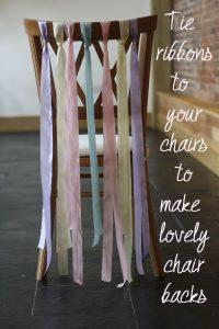 ribbon chair decorations wedding 2