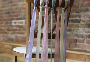 ribbon chair decorations wedding