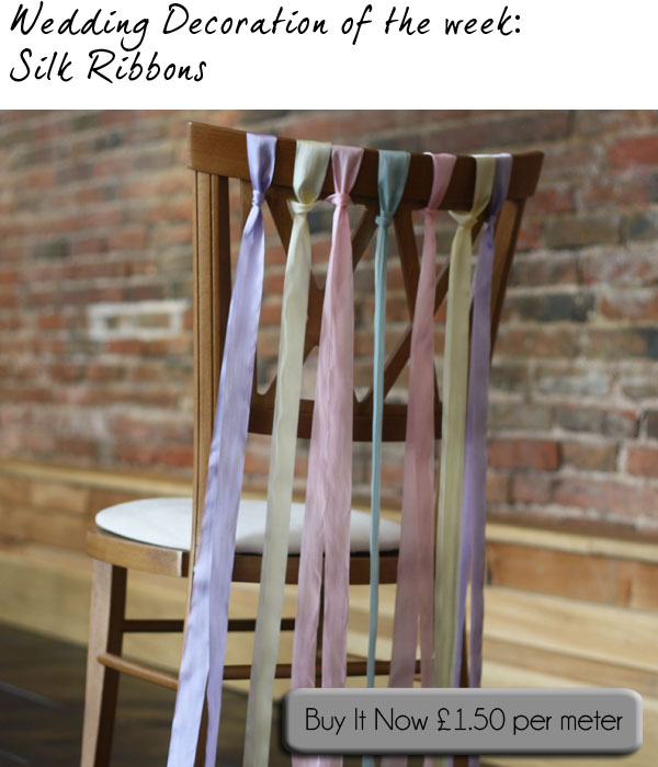 ribbon chair decorations wedding