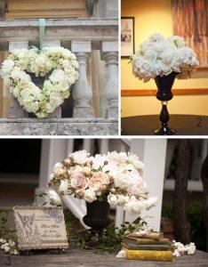 white peonies wedding