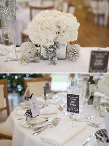 winter wonderland wedding flowers white