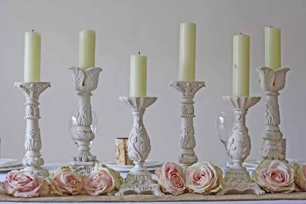 Cream Candle Sticks Holders wedding table decorations