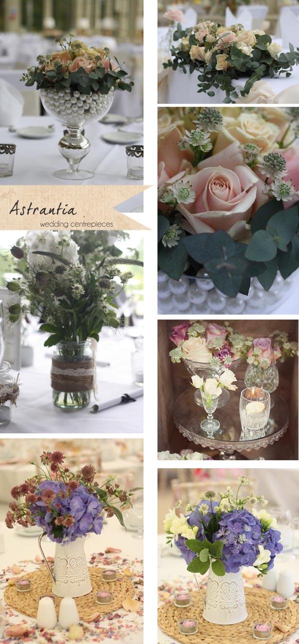 astrantia wedding flowers centrepieces