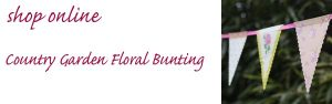 country garden floral bunting