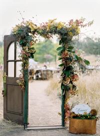 door at wedding ceremony secret garden wedding