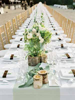 long tables vintage country garden wedding decorations