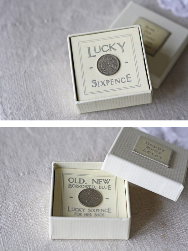 lucky sixpence wedding gift