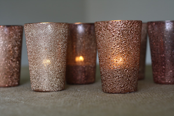 luxe bronze tea light holders wedding decorations