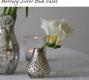 mercury silver bud vases