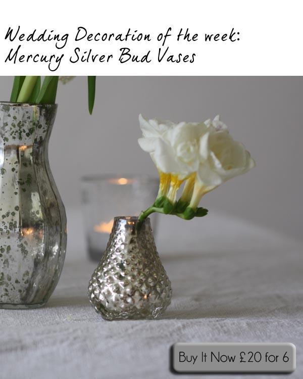 mercury small silver bud vases