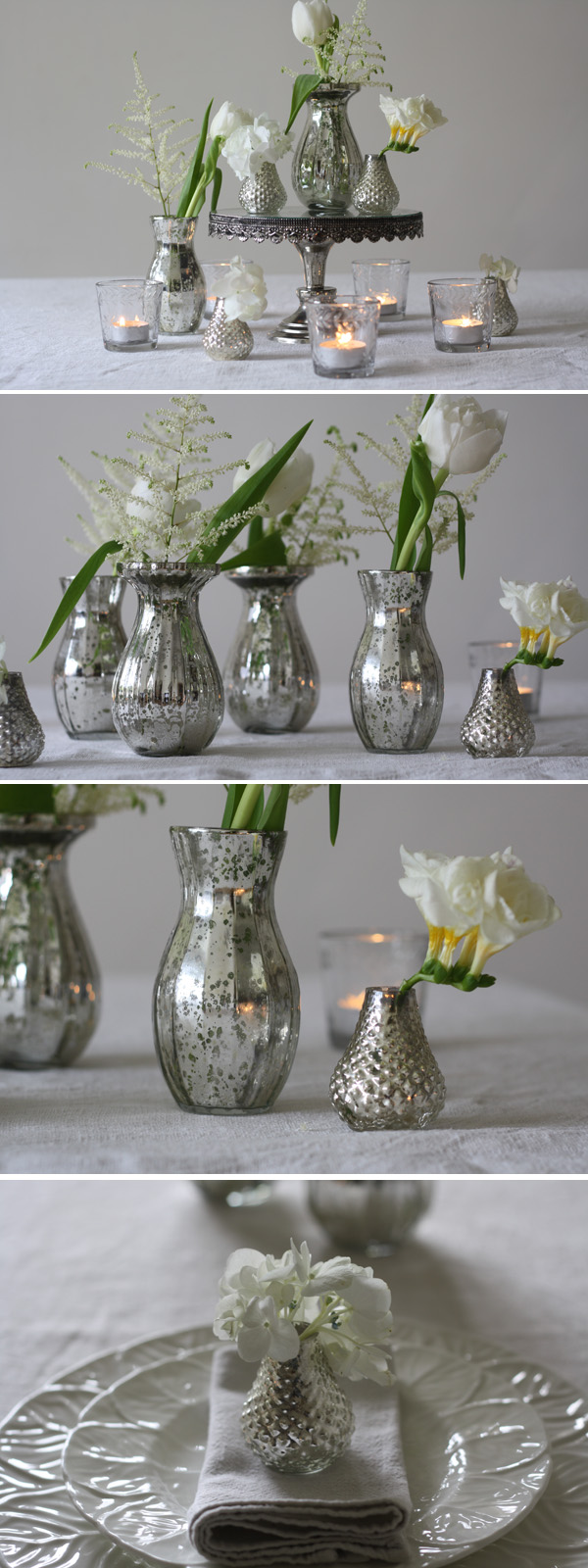 mercury silver glass vases small bud vases for wedding centrepieces wedding table decorations