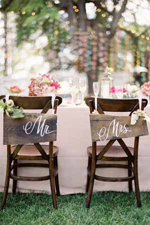 mr and mrs wedding chair backs