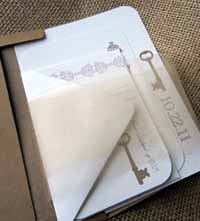 secret garden key wedding invitation