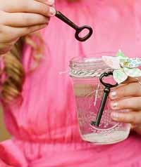 secret garden keys blowing bubbles kids