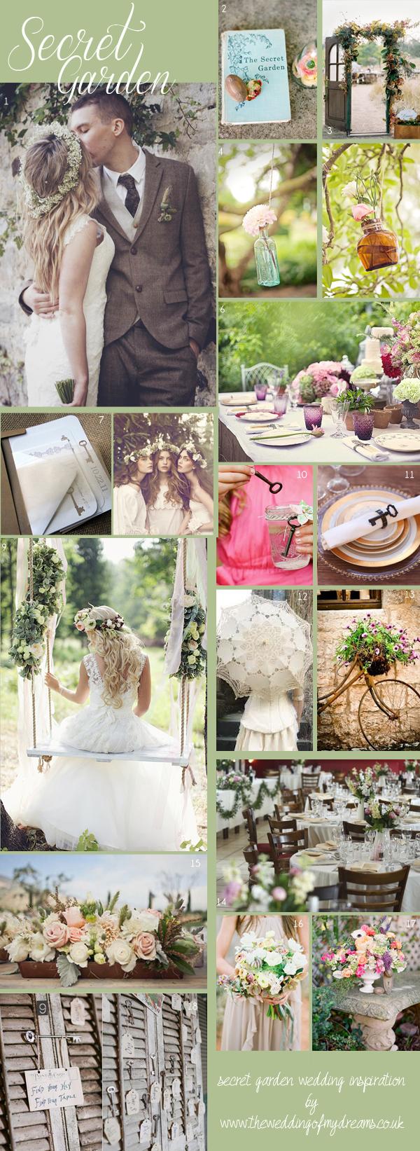 secret garden wedding decoration inspiration