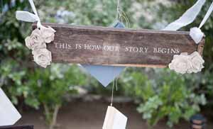 this is where our story begins sign