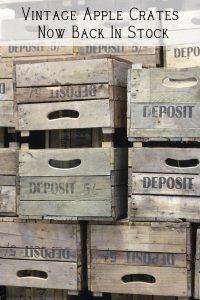 vintage apple crates wooden crates bushel crates back in stock